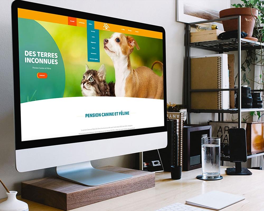 Site web pension canine Des Terres Inconnues par GD Creative Design