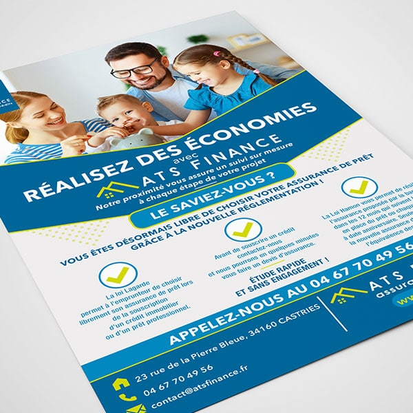 Flyer ATS Finance par GD Creative Design
