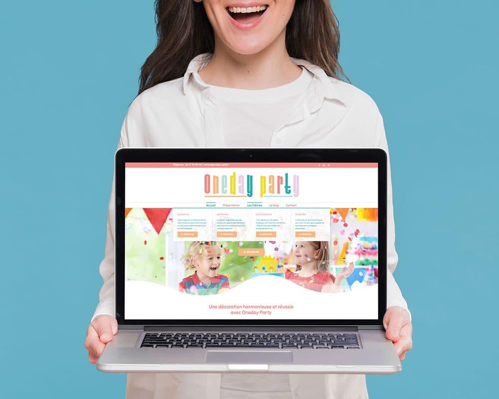 Site web Oneday Party par GD Creative Design