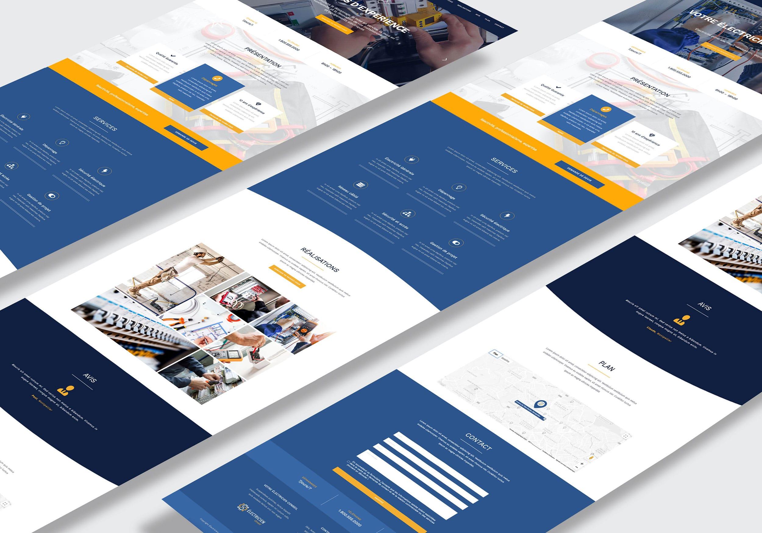 Template web site one page artisans par GD Creative Design