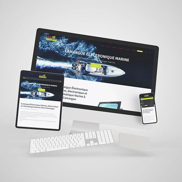 Site web Camargue Électronique Marine
