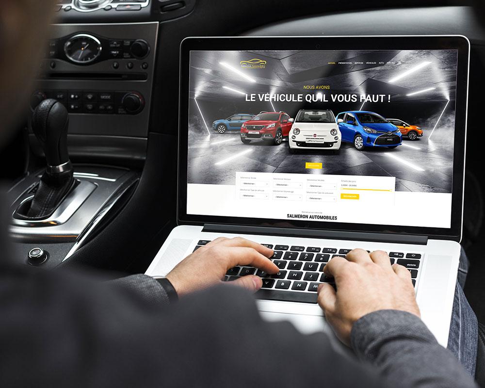 Présentation site web Salmeron Automobiles par GD Creative Design