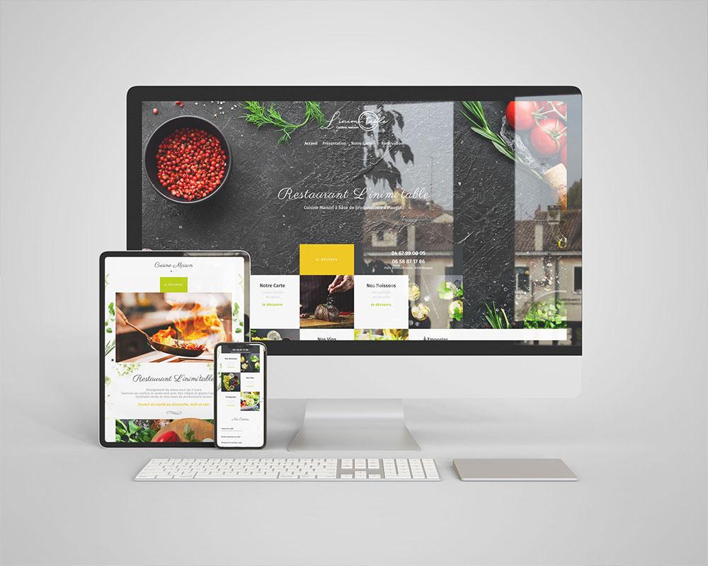 Site web restaurant l'Inim'itable
