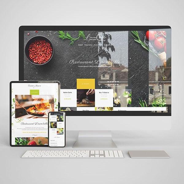 Pack de communication restaurant L'inimi'tabletable