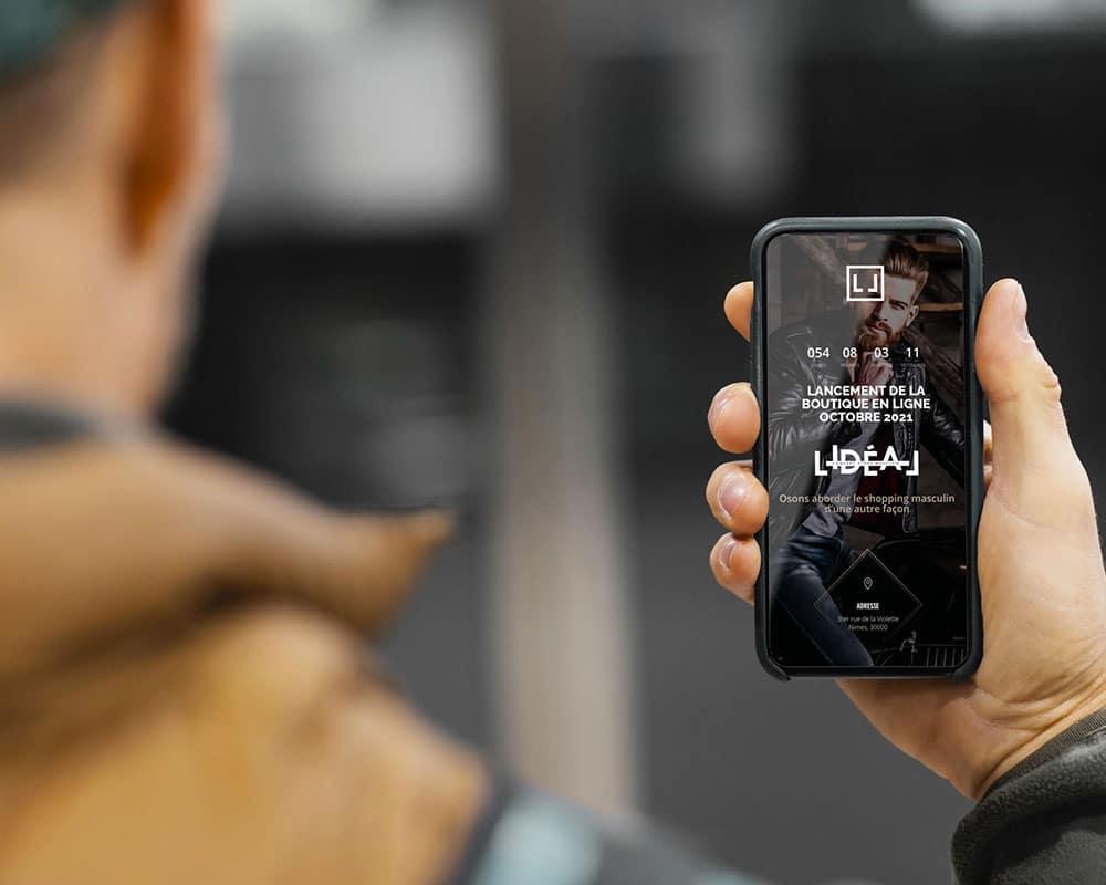 Site web L'Idéal Store responsive design mobile