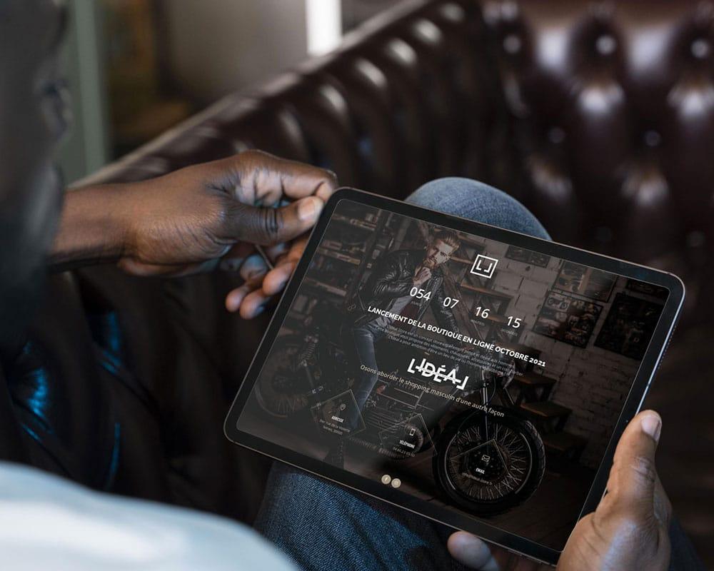 Site web L'Idéal Store tablette